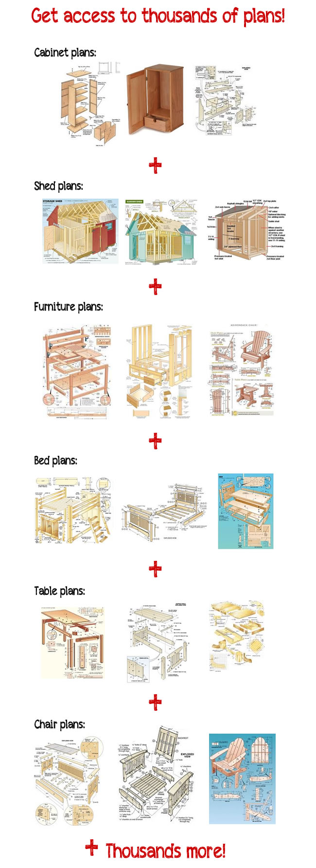 15000+ Woodworking Plans And Projects